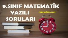 9.Sınıf Matematik Yazılı Soruları PDF (2018-2019)