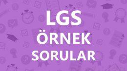 2019 LGS MART Ayı Örnek Sorular Çözümleri Pdf, Video
