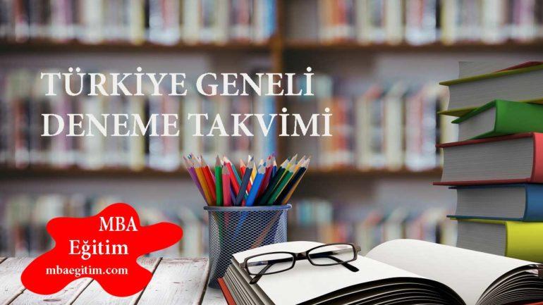 Türkiye Geneli Deneme Sınavları Tarihleri 2021 YKS TYT AYT