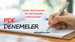 Töder 14-17 Ocak 2021 Deneme Sınavı 1 Cevap Anahtarı YKS TYT AYT
