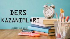 11.Sınıf Matematik Dersi Kazanımları Pdf (2019-2020)