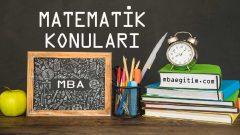 12.Sınıf Matematik Konuları PDF 2019-2020 (MEB Yeni Müfredat)