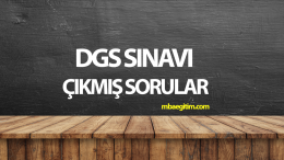DGS Tüm Çıkmış Sorular ve Çözümleri Pdf
