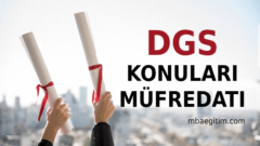 2021 DGS Konuları ve Soru Dağılımı – 2021 DGS Müfredatı