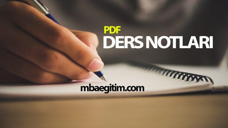 Modüler Aritmetik Ders Notu PDF indir