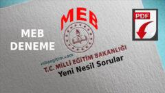 MEB Deneme Sınavı 2021 YKS TYT AYT – MEB TYT Deneme PDF 2021