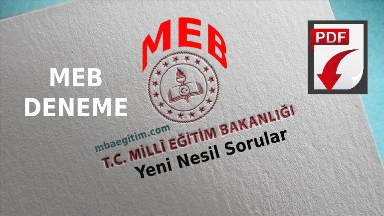 MEB Deneme Sınavları 2021 PDF indir