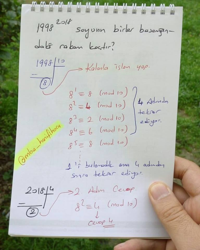 modüler aritmetik8
