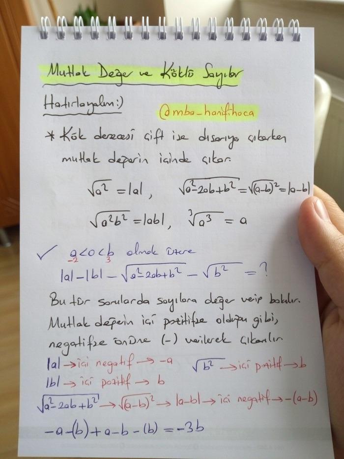 mutlak değer ders notu3