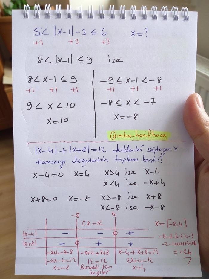 mutlak değer ders notu9