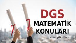 2021 DGS Matematik Konuları ve Soru Dağılımı ÖSYM Müfredatı