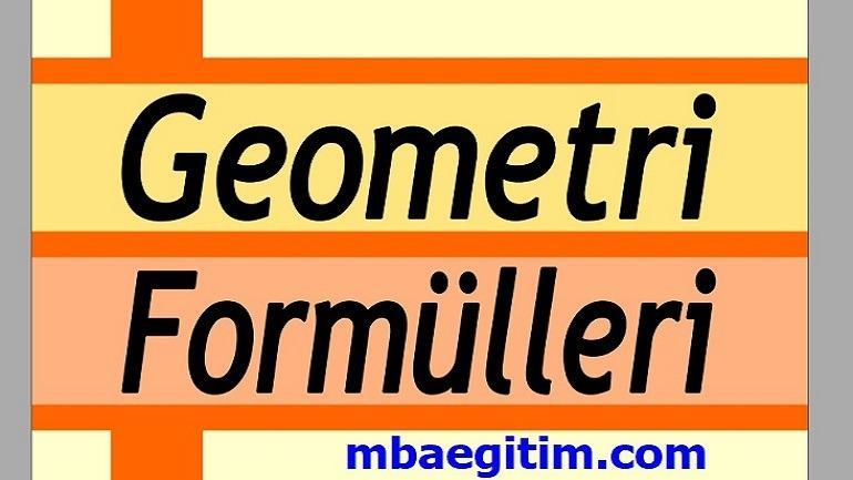 Geometri Formülleri Pdf indir TYT YKS DGS KPSS ALES