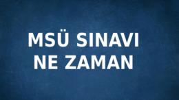 2021 MSÜ Sınavı Ne Zaman Kaç Gün Kaldı Geri Sayım Sayacı