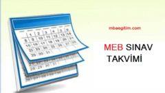 MEB Sınav Takvimi 2020 Yılı Sınav Uygulama Takvimi