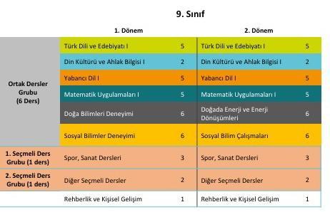 9 sinif dersleri
