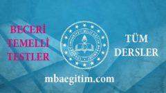 Beceri Temelli Sorular 7.Sınıf 2020 MEB (Matematik Fen Türkçe İngilizce)