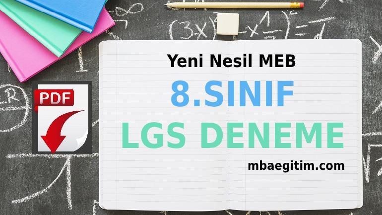 8.Sınıf LGS Deneme Sınavları PDF 2020