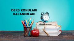 9.Sınıf Türk Dili ve Edebiyatı Konuları Kazanımları MEB Müfredatı 2020 2021