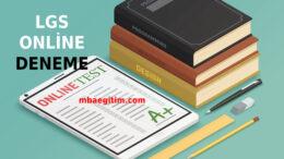 Gaziantep MEB Deneme Sınavı LGS PDF 2020