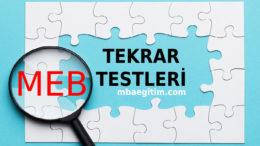 12.Sınıf Tekrar Testleri 2020 Soru Destek Paketi MEB – Tüm Dersler