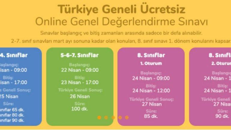 Okulistik Türkiye Geneli Online Ücretsiz Deneme Sınavı Başvuru ve Giriş (2-3-4-5-6-7-8. Sınıf)