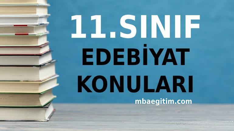 11.Sınıf Türk Dili ve Edebiyatı Konuları 2020 2021 MEB Müfredatı