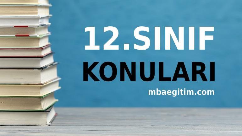 2020 ve 2021 12. Sınıf Anadolu İmam Hatip Lisesi Dersleri Kaç Saat