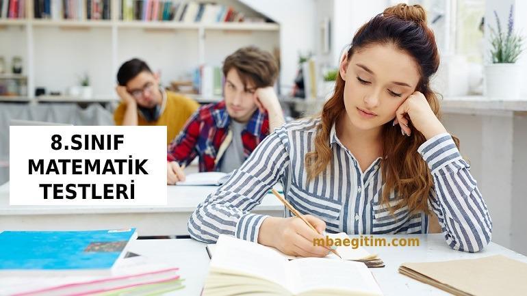 8.Sınıf Matematik Test Pdf 2021 LGS Yeni Nesil MEB