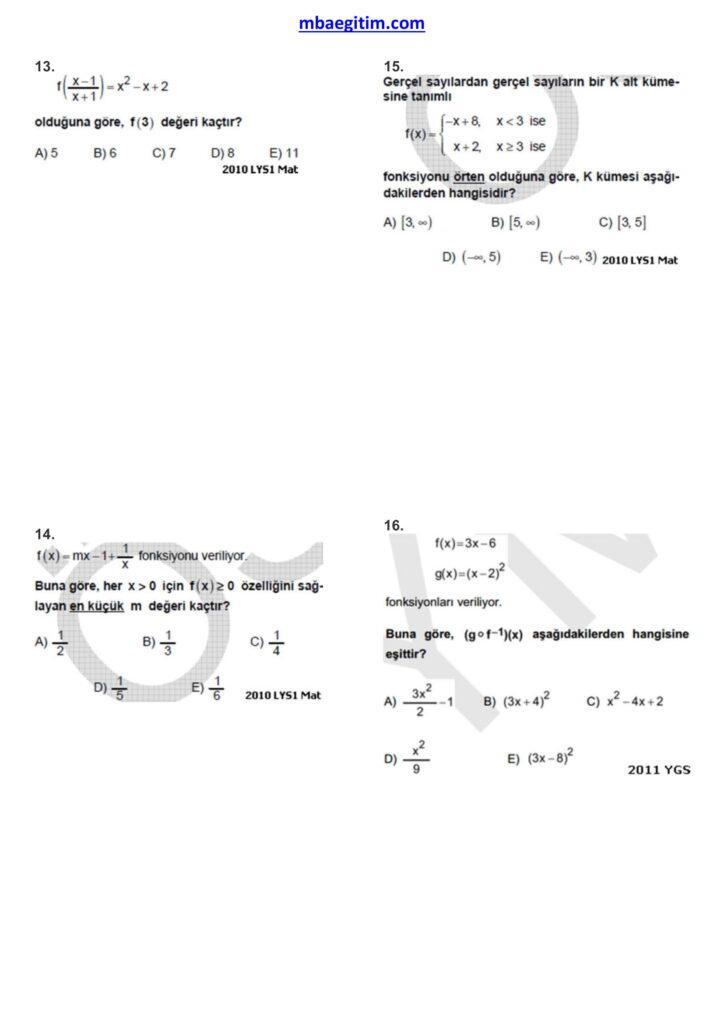 fonksiyonlar çıkmış sorular 04