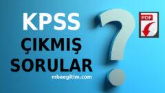 KPSS Çıkmış Sorular ve Cevapları – Tam PDF 2020