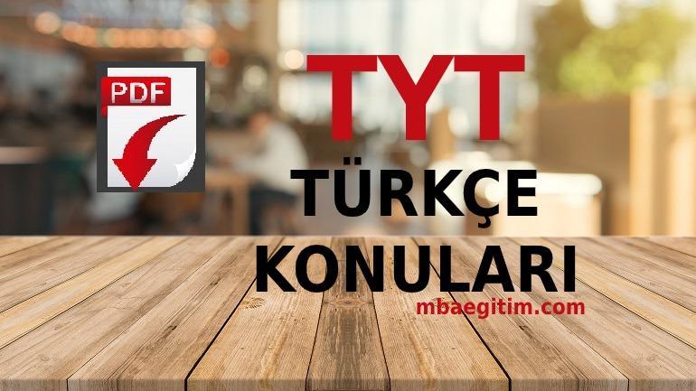 2021 TYT Türkçe Konuları PDF Soru Dağılımı ve Müfredatı