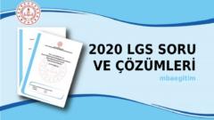 2020 LGS İnkılap Tarihi Soruları ve Çözümleri – LGS Çıkmış Sorular