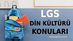 2021 LGS Din Kültürü Konuları ve Soru Dağılımı – MEB Müfredatı