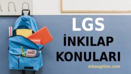2021 LGS İnkılap Tarihi Konuları ve Soru Dağılımı MEB – 8.Sınıf