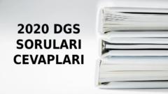 2020 DGS Soruları ve Cevapları (Matematik, Türkçe)