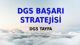 2021 DGS Başarı Stratejisi – DGS 2021 Tayfa