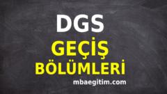 DGS Geçiş Bölümleri 2020 DGS Geçiş Yapılacak Bölümler PDF