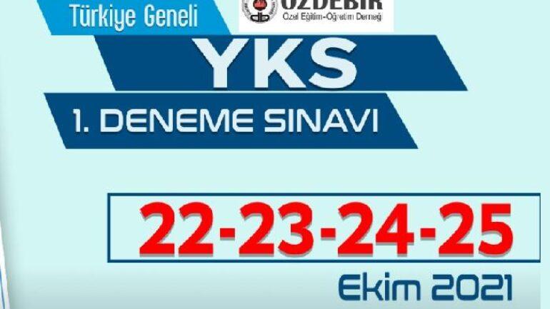 2021 Özdebir Türkiye Geneli Deneme-1 (22-23-24-25 Ekim)